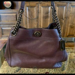 Coach Pebble Turnlock Satchel